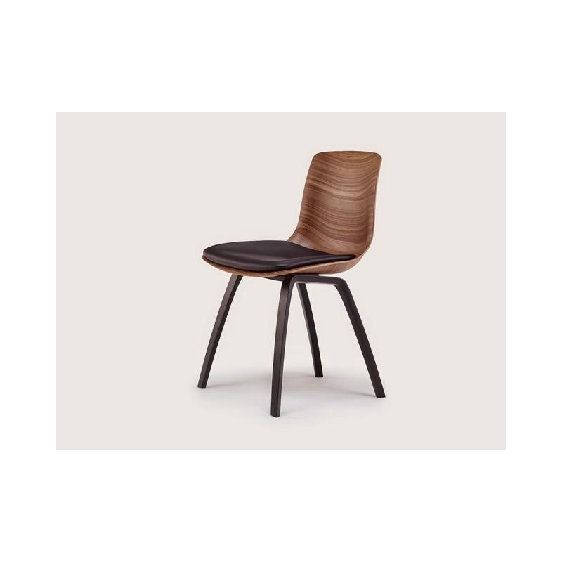 chaise tulip pieds bois naver. Black Bedroom Furniture Sets. Home Design Ideas