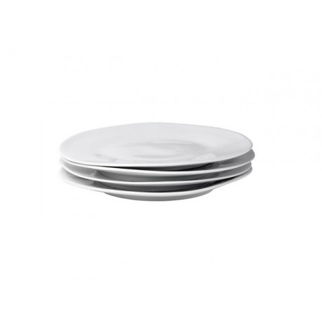 Assiette plate en porcelaine Affamée