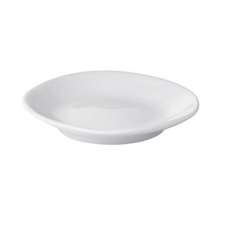 Soucoupe en porcelaine blanche Affamée