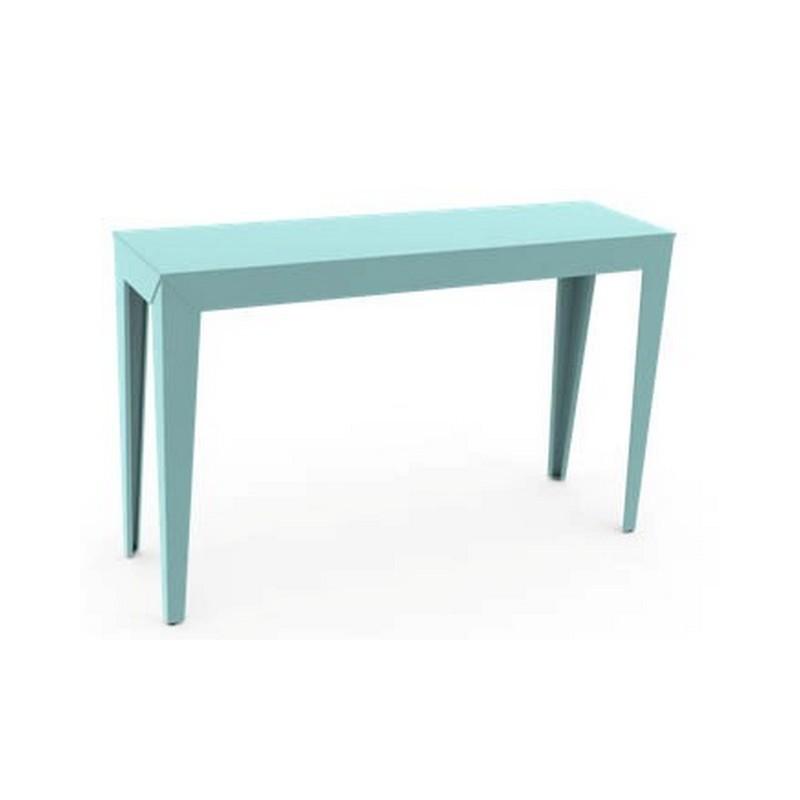 console zef l 120 x p 35 cm mati re grise. Black Bedroom Furniture Sets. Home Design Ideas