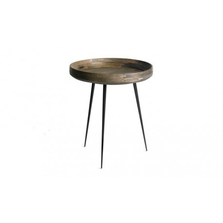 table basse bowl manguier gris Mater