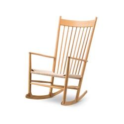 Rocking-chair J16 chêne huilé raphia naturel