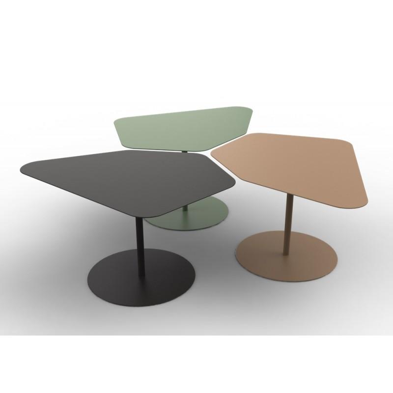 table basse kona mati re grise d coration. Black Bedroom Furniture Sets. Home Design Ideas