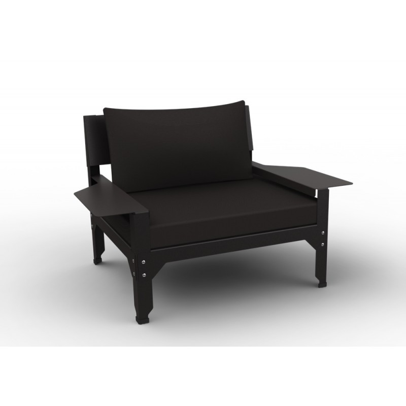 fauteuil lounge hegoa mati re grise. Black Bedroom Furniture Sets. Home Design Ideas
