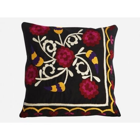 Housse de coussin motif fleurs