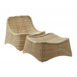 Chaise longue et repose-pied Chill Nanna Ditzel Sika Design