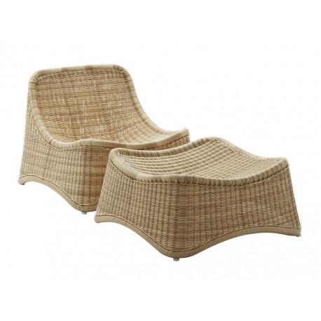 Chaise longue et repose-pied Chill Nanna Ditzel Sika Design