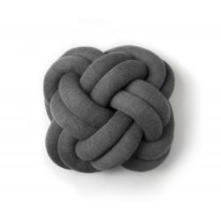 Coussin Knot gris foncé
