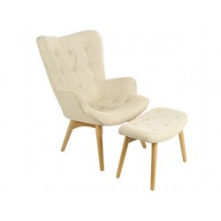 Fauteuil Joan + repose-pied