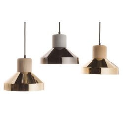 Suspension Steel wood large luxe