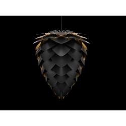 Suspension Conia noire et or