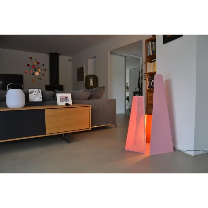 lampe fragment mati re grise d coration. Black Bedroom Furniture Sets. Home Design Ideas