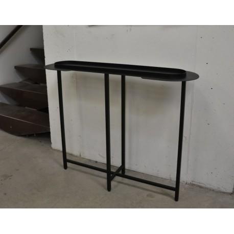 console halo acier mati re grise. Black Bedroom Furniture Sets. Home Design Ideas