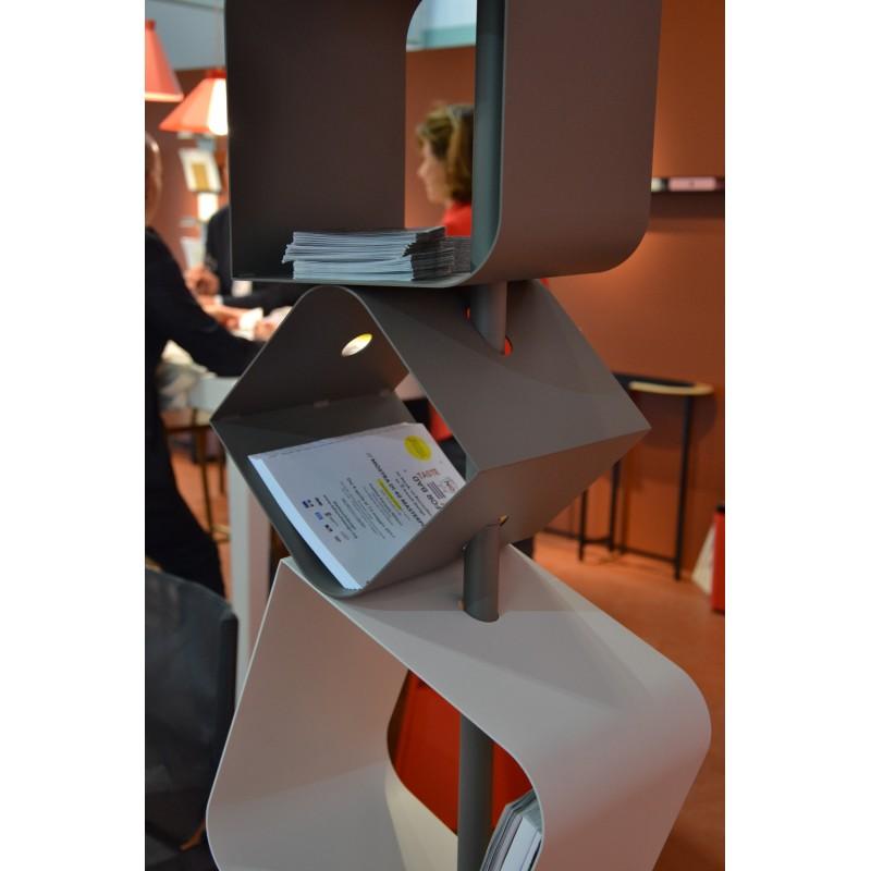 etag re biblioth que levant mati re grise d coration. Black Bedroom Furniture Sets. Home Design Ideas