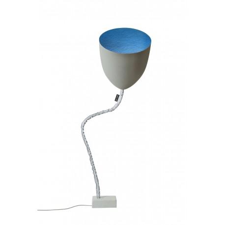 Lampe à poser Flower Cemento bleue