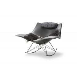 Rocking-chair Stingray, coque gris mat, structure silex