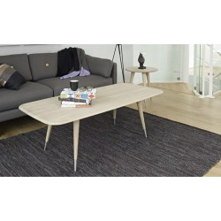 Table basse rectangulaire Point