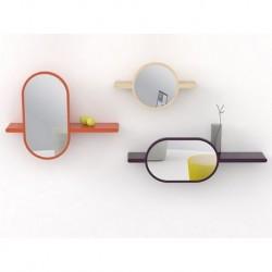 Miroir étagère Mirettes