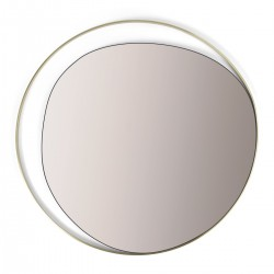 Miroir Ellipse Red