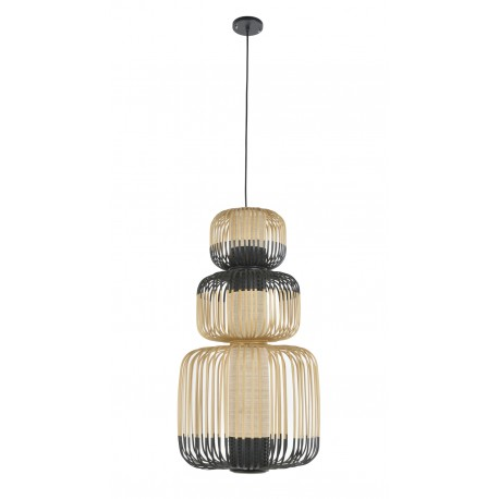 suspension bamboo light 3 ou 4 lumi res forestier. Black Bedroom Furniture Sets. Home Design Ideas