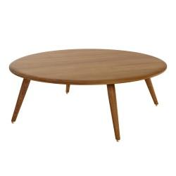 Table basse ronde Fox D 80 cm, frêne foncé