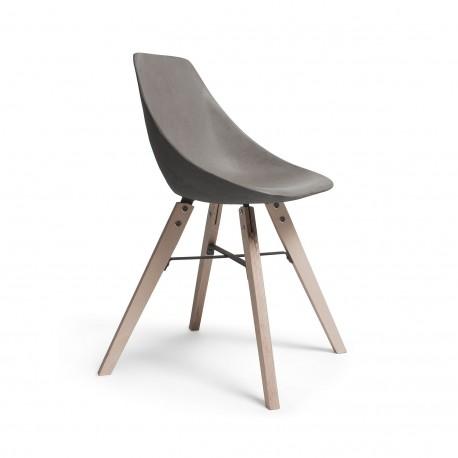 Chaise d'Hauteville pieds bois LYON BETON
