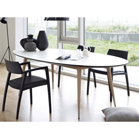 table ovale extensible point naver. Black Bedroom Furniture Sets. Home Design Ideas