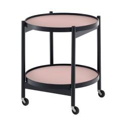 Table roulante Tray hêtre noir 50 cm BRDR KRUGER