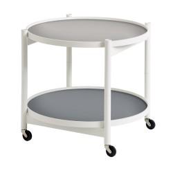 Table roulante Tray hêtre blanc 60 cm BRDR KRUGER