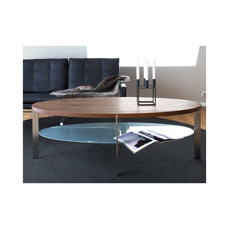 Table basse ovale link tag re verre naver - Table basse design ovale ...