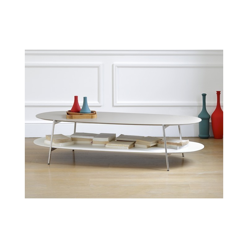 table basse ovale shika co dition. Black Bedroom Furniture Sets. Home Design Ideas