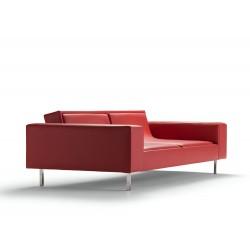 Canapé Jung tissu Leda rouge