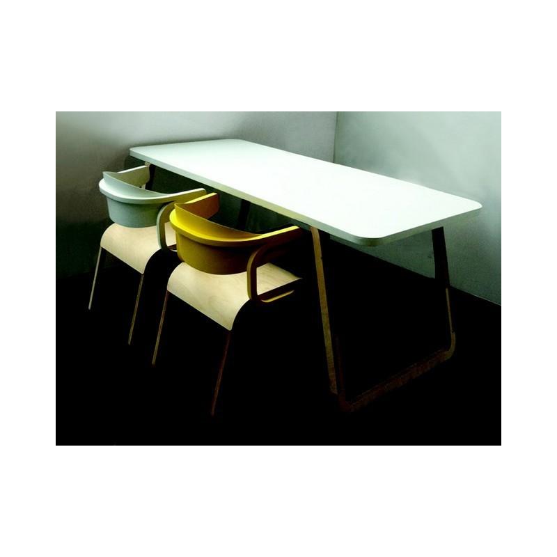 table de repas ou bureau perch sp cimen. Black Bedroom Furniture Sets. Home Design Ideas