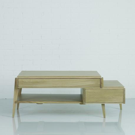 Table basse 2 tiroirs 1 tablette Liseré