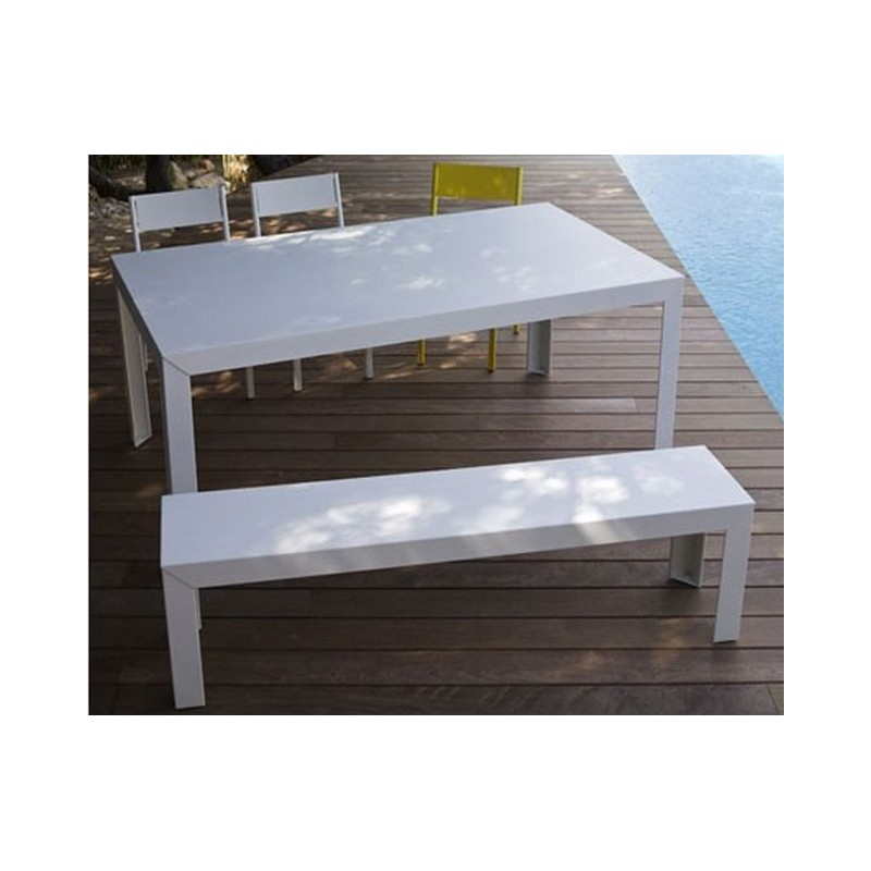 table rectangulaire zef 120x80 mati re grise d coration. Black Bedroom Furniture Sets. Home Design Ideas