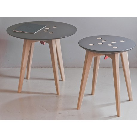 Tabouret et table d'appoint Frida