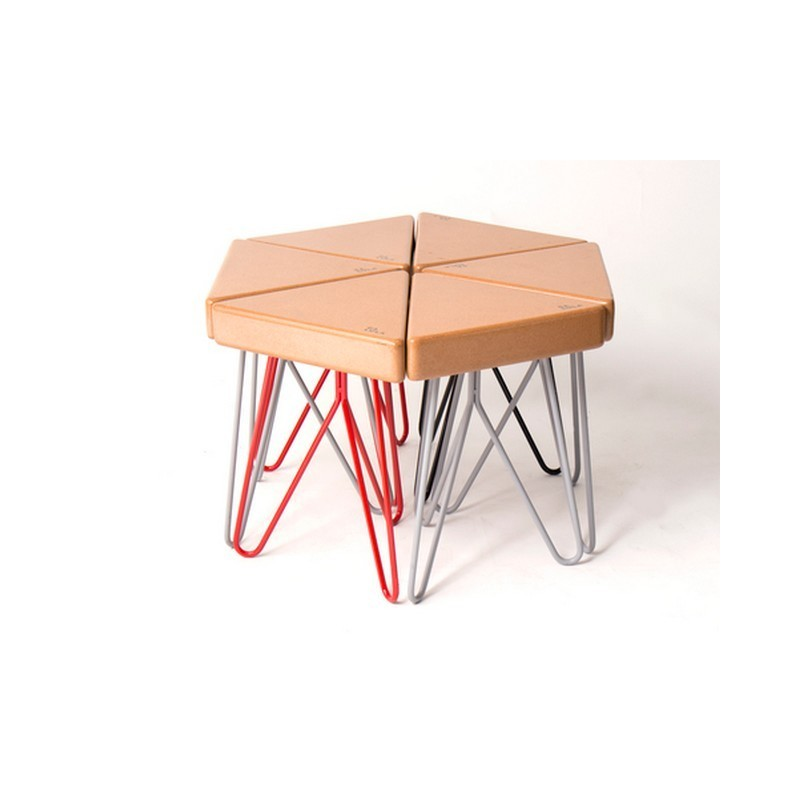 Tabouret table basse tres galula - Table basse avec tabourets integres ...