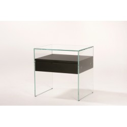Table de chevet Zen en verre ADENTRO
