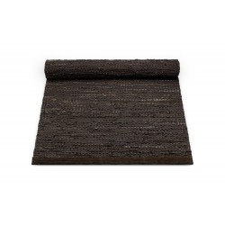Tapis Leather cuir recyclé chocolat