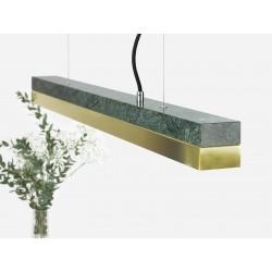 Suspension C2 marbre et laiton 92 cm GANTLIGHTS