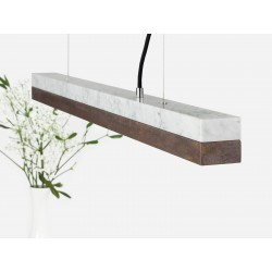 Suspension C2 corten et marbre 92 cm GANTLIGHTS