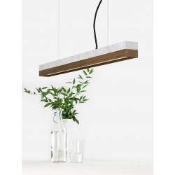 Suspension C2 marbre et noyer 92 cm GANTLIGHTS