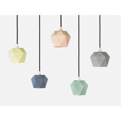 Suspensions Triangle porcelaine pastel GANTLIGHTS
