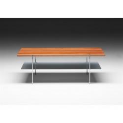 Table basse rectangulaire Link étagère verre NAVER
