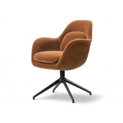 Chaise Swoon base métal FREDERICIA
