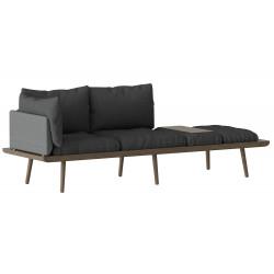 Sofa Lounge Around chêne foncé