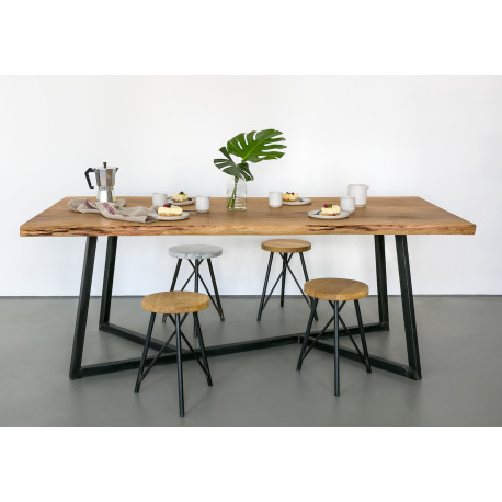 Table Steel and Oak NUTS & WOODS