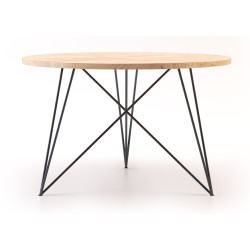Table ronde Steel and Oak NUTS & WOODS