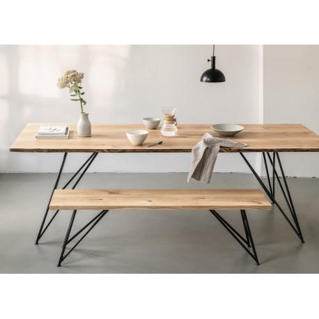 Table Slim black Oak