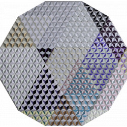 Tableau hexagonal mural HIS-3 Jupiter
